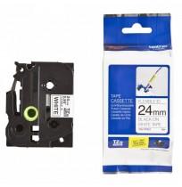 Color Tapes 24mm TZE-FX251 Flexible Black on White
