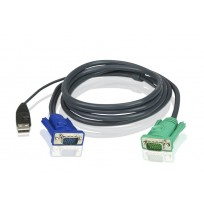 ATEN 1.8M USB KVM Cable with 3 in 1 SPHD and Audio [2L-5205U]