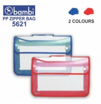 BAMBI 5621 Zipper Bag Folio Tenteng