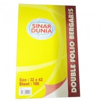 SIDU Kertas Double Folio Bergaris isi 100 Sheet