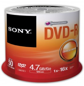 SONY DVDR 4.7 GB, 50 Pack Spindle