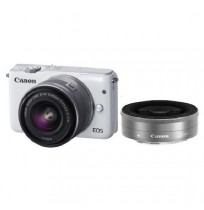 CANON EOS M10 White with EF-M15-45mm/22mm [EOSM10-W3]