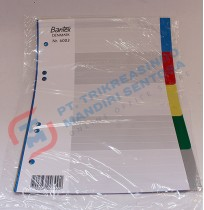 Divider PP Colour Bantex 6003