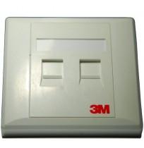 3M Face Plate 2 Port