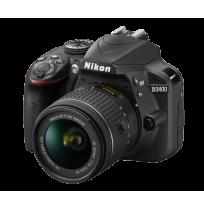 NIKON Kamera DSLR D3400 - Lens 18 - 55mm - Hitam